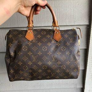 Authentic Louis Vuitton speedy 30 tote bag